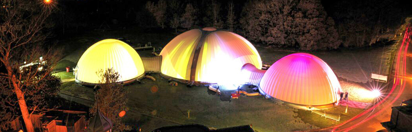Multiple Connected Inflatable Domes - NY USA