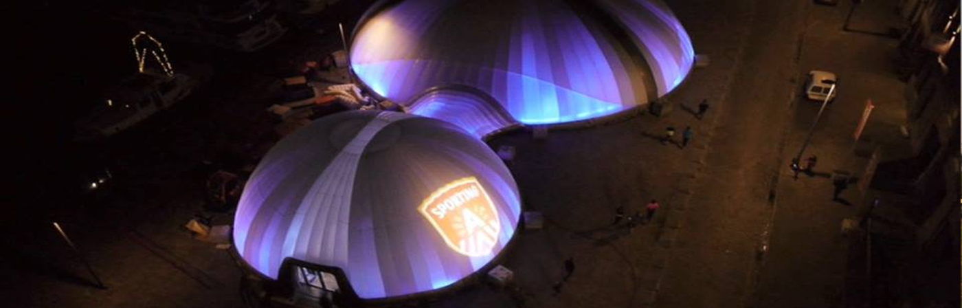 Connected Inflatable Domes with Internal Lighting - NY USA